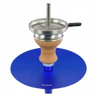 Smokah Shisha Devil Night Blue Aluminium Blue, 49 cm