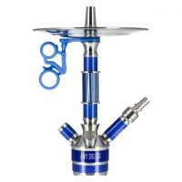 Amy Carbonica Solid Edelstahl Shisha Blue RS Blue, 48 cm hoch