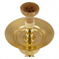 Khalil Maamoon Flower Ice Pot Trimetal Gold Traditionell, 74 cm