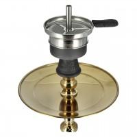 Amy Mini Harfi Shisha Oriental, Schwarz-Gold / Gold, 47 cm hoch