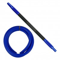 Amy Feather Steel Edelstahl Shisha, Blue, 70 cm hoch