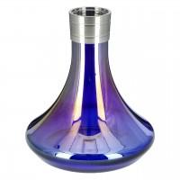 Aladin MVP 360 Edelstahl Shisha Shiny Full Blue, 35 cm hoch