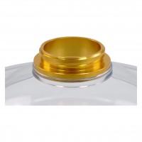 "Caesar Tisch-Shisha ""Ufo"", Gold, 29 cm hoch"