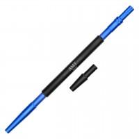 Aluminium Mundstück Blau, mit Adapter, 36 cm