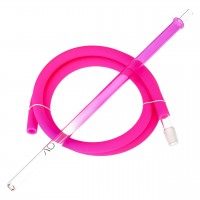 AO Schlauchset XL Glas Pink Colored Round, ca. 1,90 Meter lang