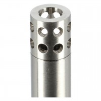 WD Hookah Mini Edelstahl Shisha Grau Klar, Schraubverschluss, 28 cm